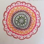 a mandala made by savraj