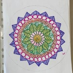 A mandala made by kavita
